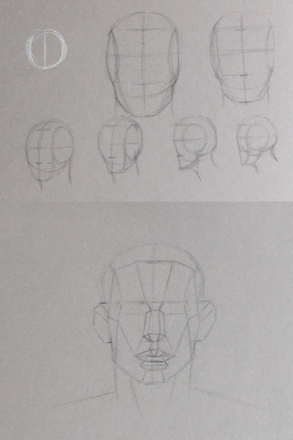 Learning how to draw a head  | Exploring other ways to draw a portrait with pencil , by The Daily Atelier