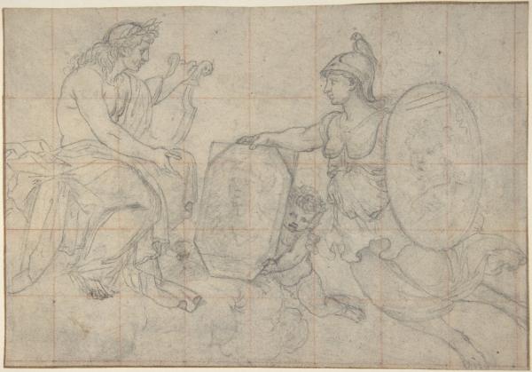 Minerva Presenting Two Portraits to Apollo