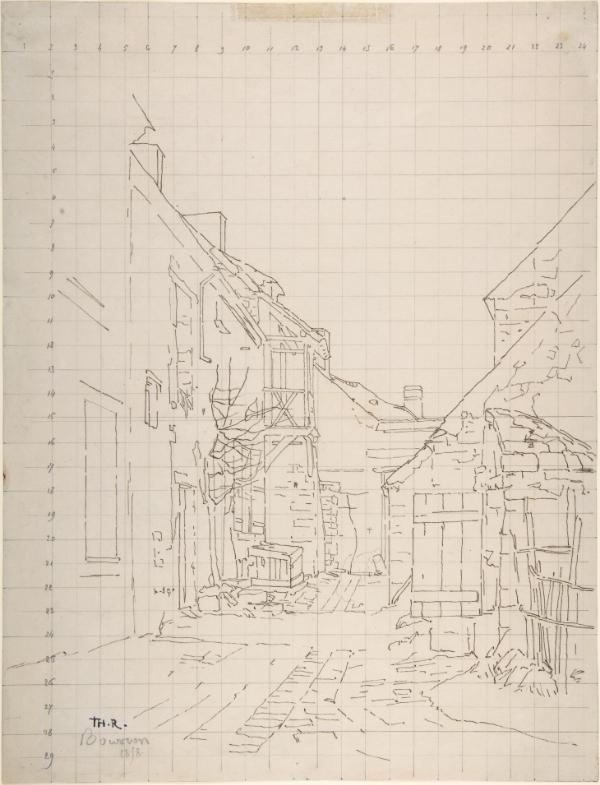 An Alleyway between Houses