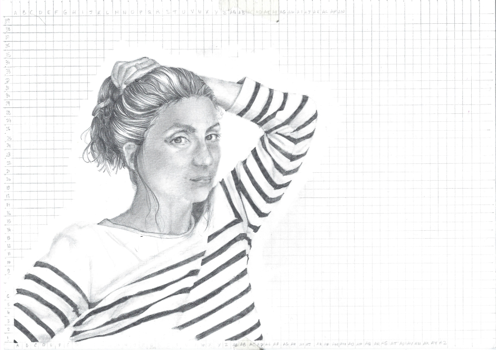 The detailed drawing and the grid  | Exploring other ways to draw a portrait with pencil , by The Daily Atelier