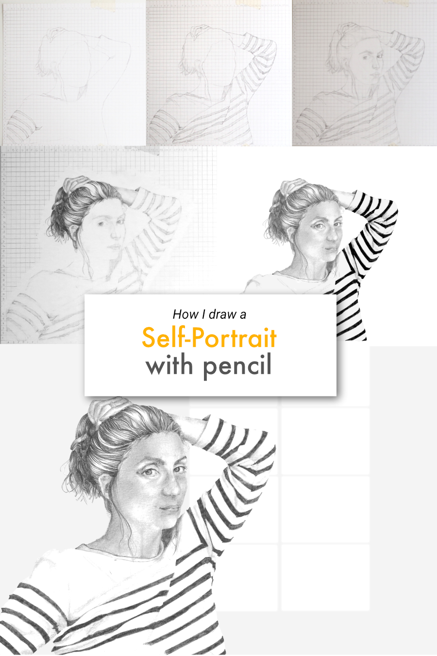 How I draw a self-portrait with pencil | by The Daily Atelier