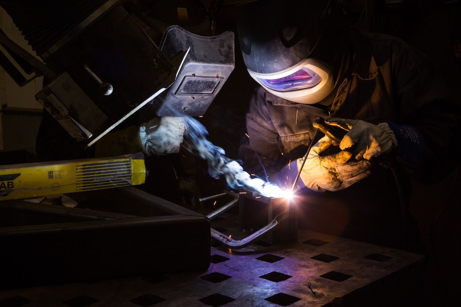 Welding in the workshop