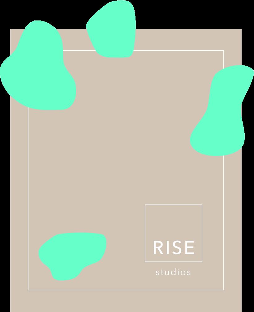 rise studios:website & logo -