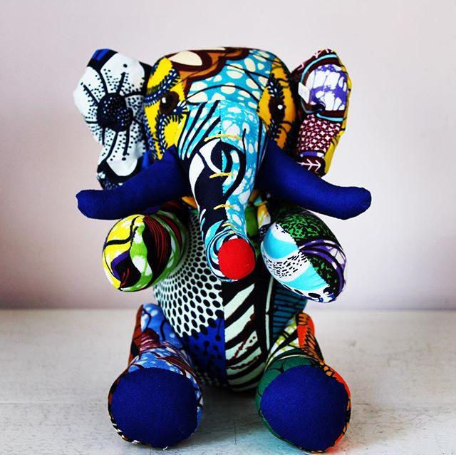 Each one of our #cute #elephant #toys has an individual #unique pattern. No two are the same! Launching this week! #handmade #shweshwe #kids #fairtrade #softtoys #fun #design #handmadetoys #givingtuesday #purchasewithpurpose