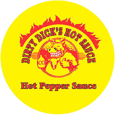 Dirty Dick's Hot Sauce Round Logo
