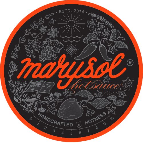Marysol Hot Sauce Round Logo