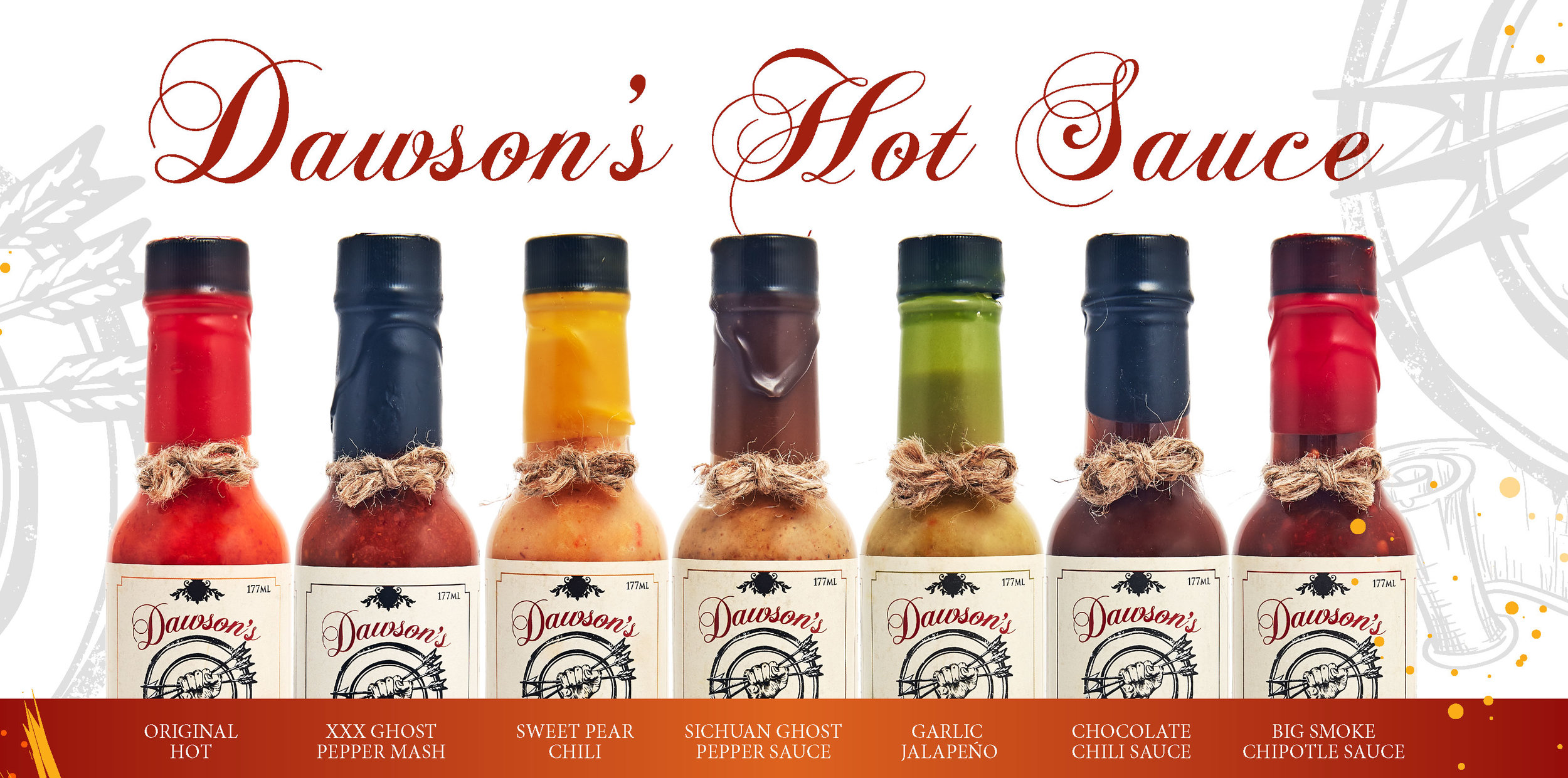 Dawson's Hot Sauce Products