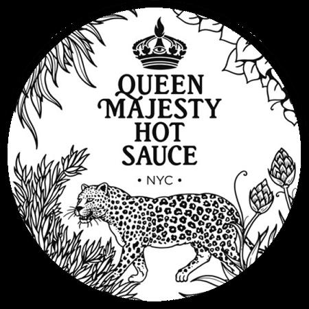 Queen Majesty Hot Sauce Round Logo