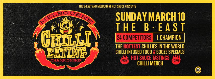 Melbourne Chilli Eating Championship Banner