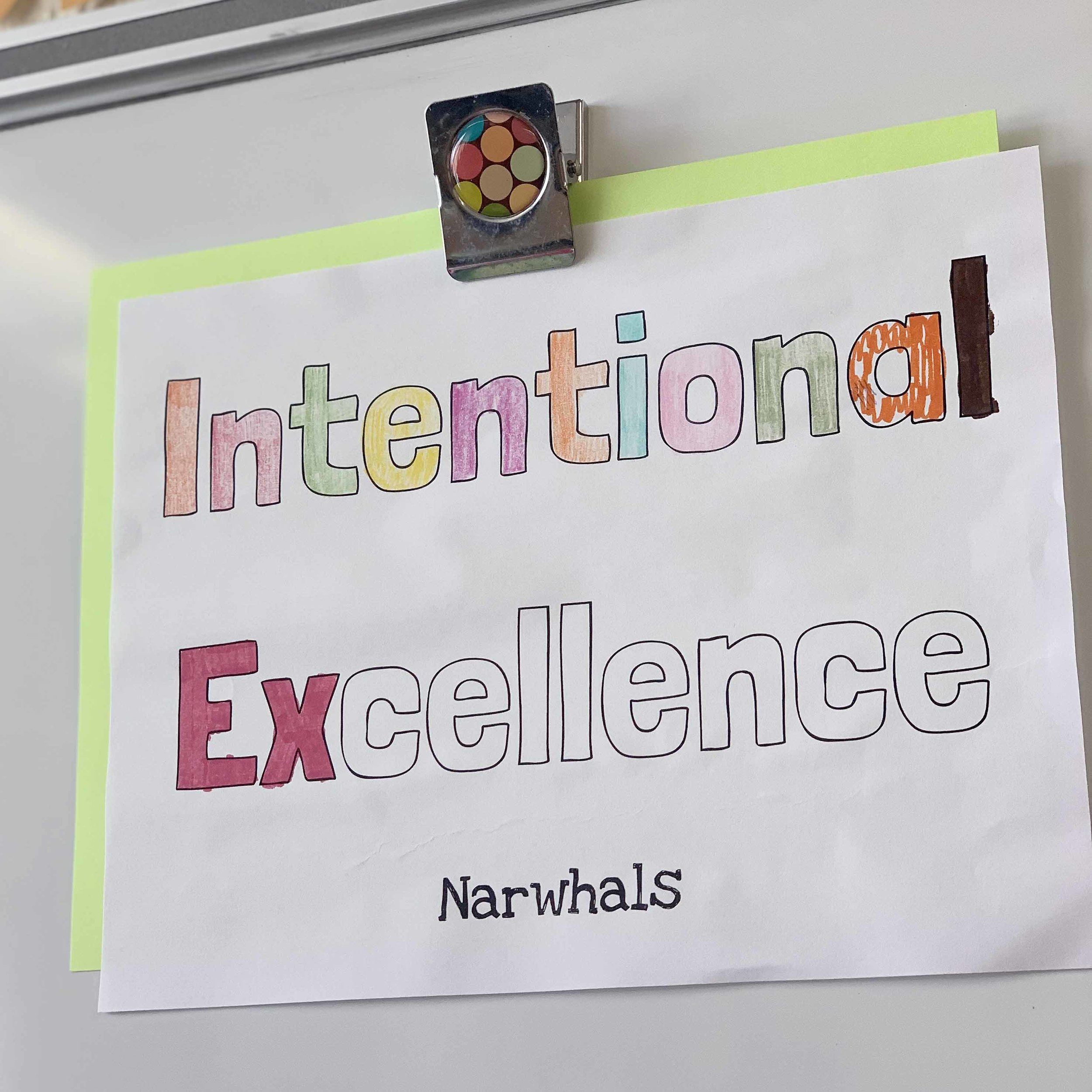 We talk about what Intentional Excellence means!