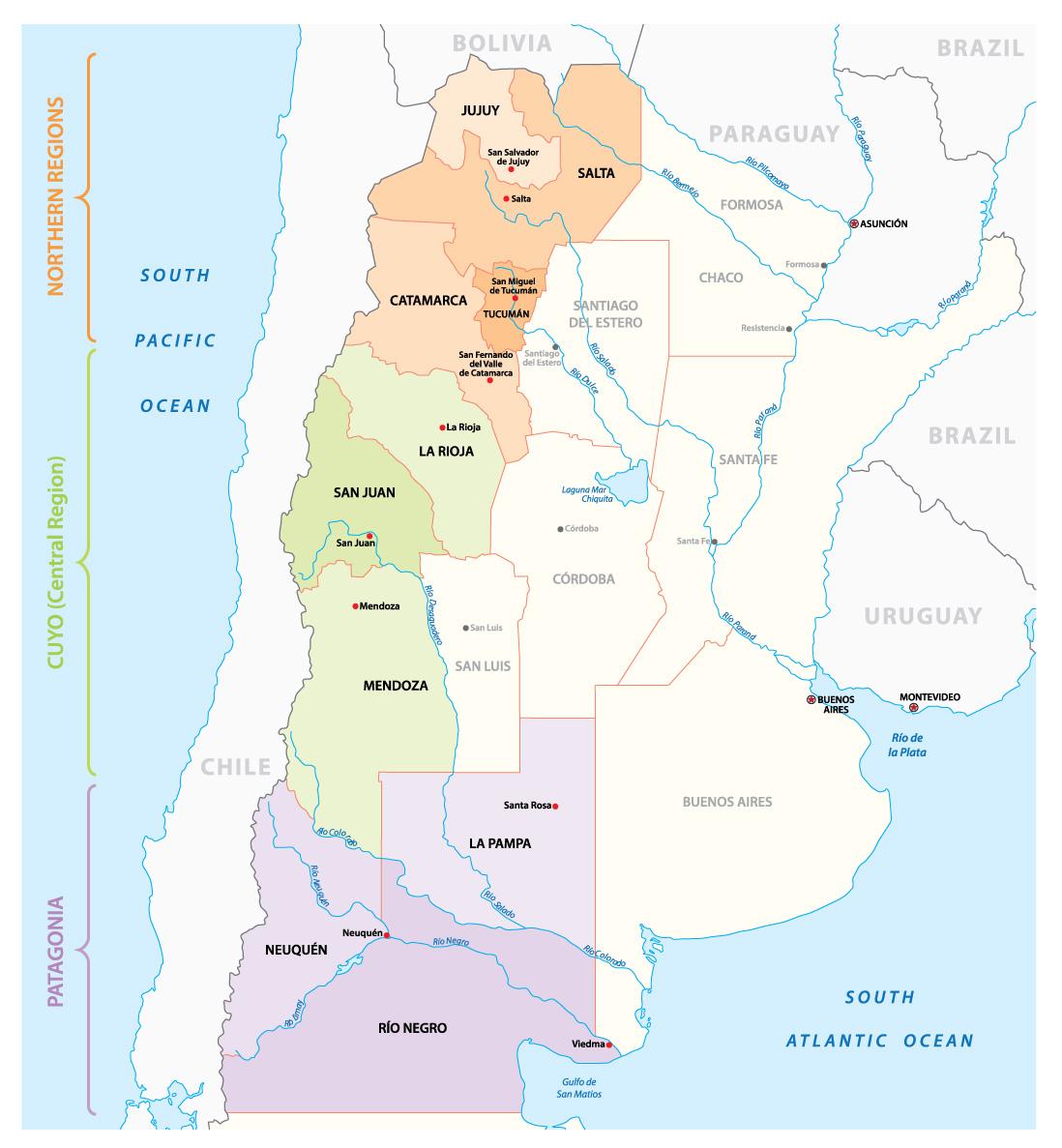 Main Wine Regions of Argentina