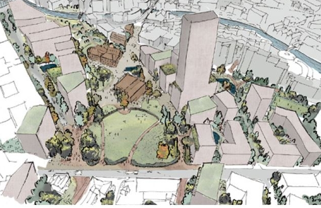 An artist's impression of the City Park