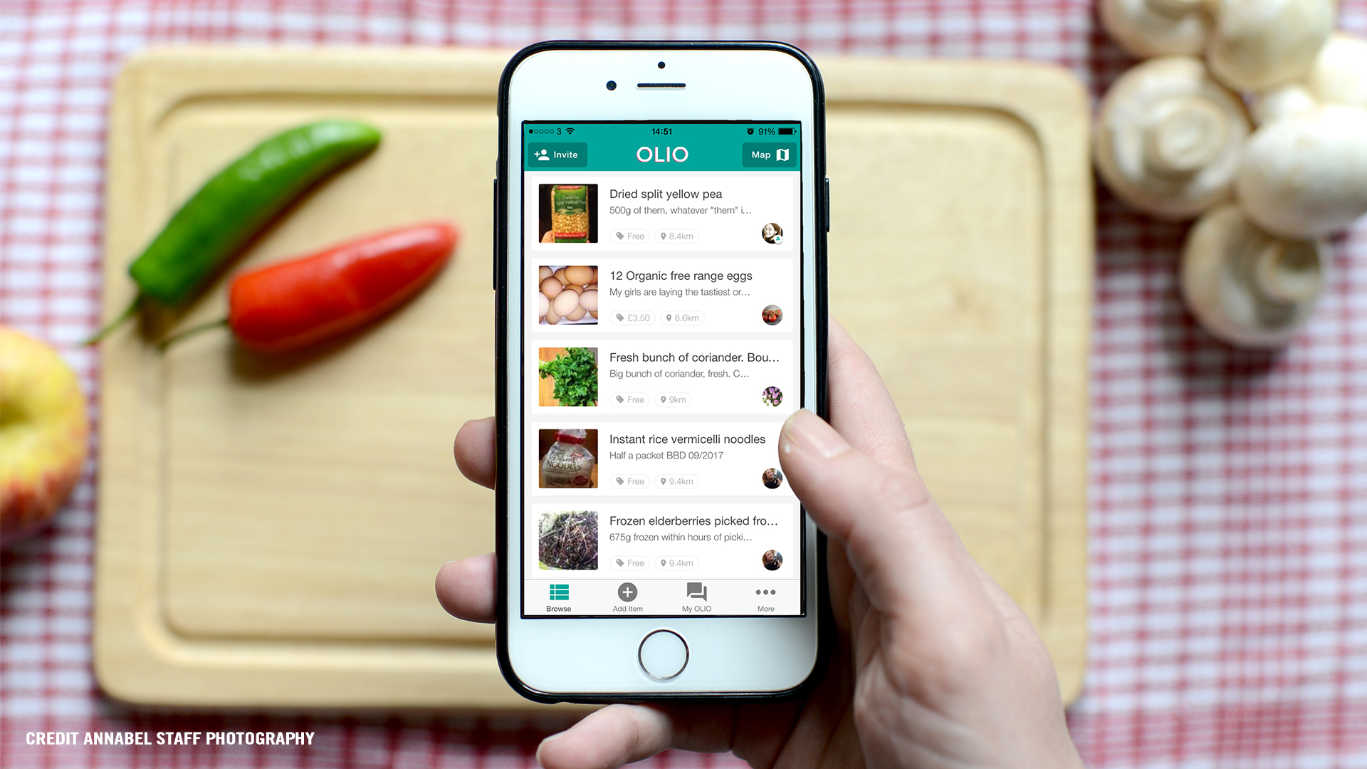 OLIO   We'd like to think that bit by bit we are all making changes in order to improve our planet not only for us but for future generations. We've seen a surge in awareness around the use of plastic, veganism increasing in popularity and now we bring you  Olio , an app that aims to connect neighbours with each other and with local shops so surplus food and other items can be shared, not thrown away. Food wastage is a huge problem and we can all do our bit to minimise this. Individuals and businesses can both join the Olio scheme and it could be to share food nearing its sell-by date in local stores, spare home-grown vegetables, bread from your baker, or the groceries in your fridge when you go away. You upload details of the item to the app and share away. The team behind Olio 'believe that small actions can lead to big change. Collectively – one rescued cupcake, carrot or bottle of lotion at a time – we can build a more sustainable future where our most precious resources are shared, not thrown away'. So download the app and share away!  Facebook  |  Instagram  |  Twitter