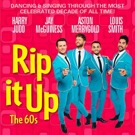 DANCE: RIP IT UP   Four hot celebrity stars from Strictly Come Dancing have come together for  Rip It Up , a 60s spectacular of dance, song and acrobatics celebrating the decade that transformed the 20th century. Harry Judd of McFly, Aston Merrygold from JLS, Jay McGuiness from The Wanted and Louis Smith, Olympian extraordinaire, will all have the audience up from their seats and dancing the evening away. We've seen them on our screens waltzing and jiving their way round the ballroom and they've each kept fans up to date with rehearsals on social media so we know we're in for a visual treat. With music from legends like The Beatles, The Rolling Stones, Bob Dylan, The Doors, Dusty Springfield and so many more, it really will be a family treat for all. Tickets are from £25 with the option for meet and greet upgrades for the super fans amongst you and it's all going down at the Garrick Theatre in the West End. Shimmy shimmy on down.      Facebook  |  Twitter