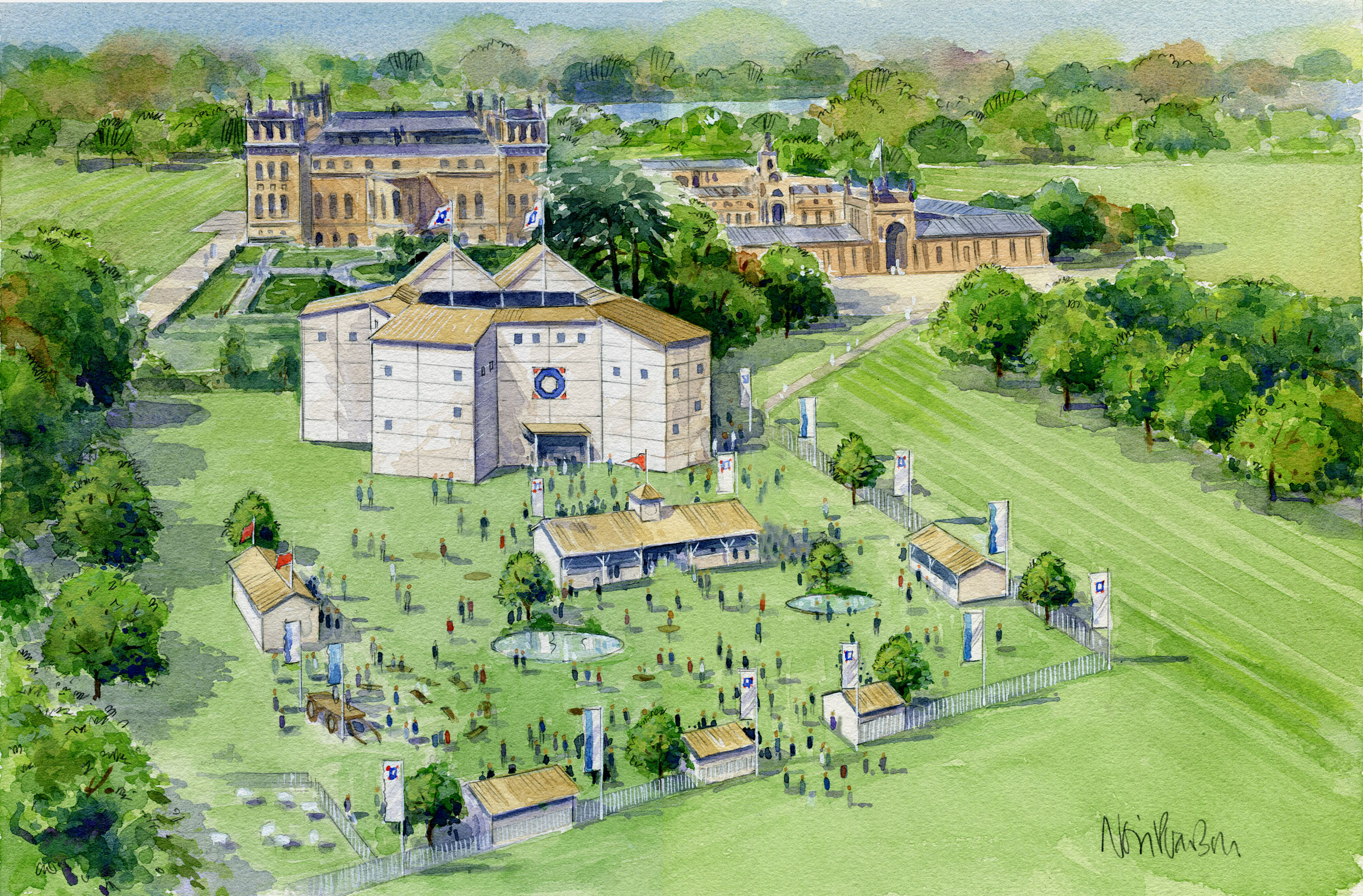"From the 8th of the month until early September, Blenheim Palace, a word heritage site in Oxfordshire, is going to be home to a  pop up Shakespearean theatre . They are moving here following a highly acclaimed season in York last year and audiences can see four of ol' Billy's most popular plays - Romeo & Juliet, Richard III, Macbeth and A Midsummer Night's Dream. Now don't be put off by the words pop-up, this isn't a group of people huddling under a gazebo, quite the contrary; the structure is impressive, solid and convincingly similar to the kind of venue the original productions would have been staged, if you squint to ignore some of the scaffolding on show. Outside of the theatre will be a Shakespearean village, offering the finest Oxfordshire fare: NB, Local ales and snacks to keep everyone suitably energised in the summer sun. In addition there will be an 'array of 'wagon' entertainment.' which both intrigues and confuses us in equal measure. Tickets are available via the website or SEE Tickets and you can either choose to just get production tickets or combine with access to the majestic Blenheim Palace and gardens making a real day of it. Here's hoping the sun stays out as frankly so far this summer ""The weather doth protest too much"" for our liking.   Facebook  
