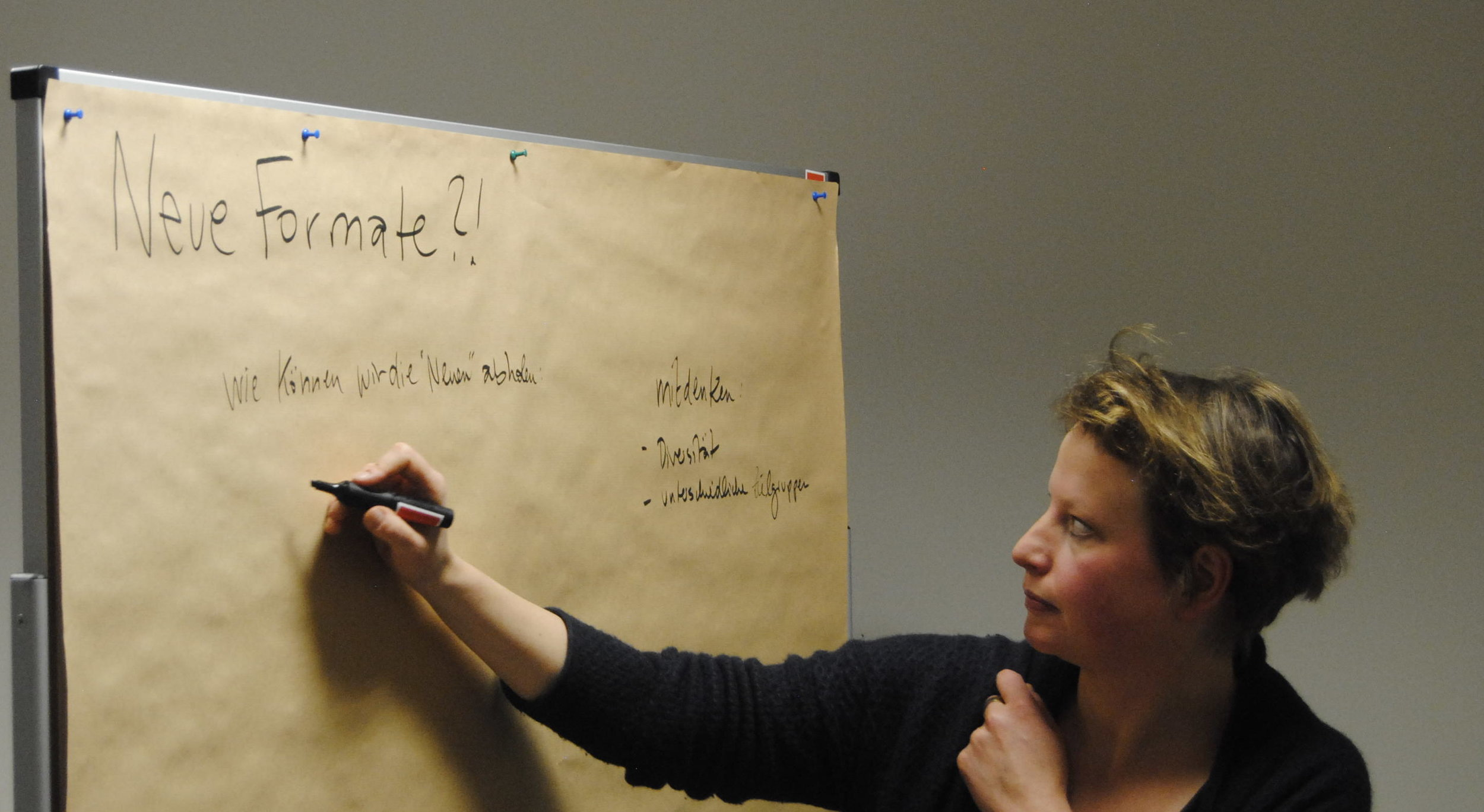 Discussion groups at the meeting worked to find new formats of outreach.