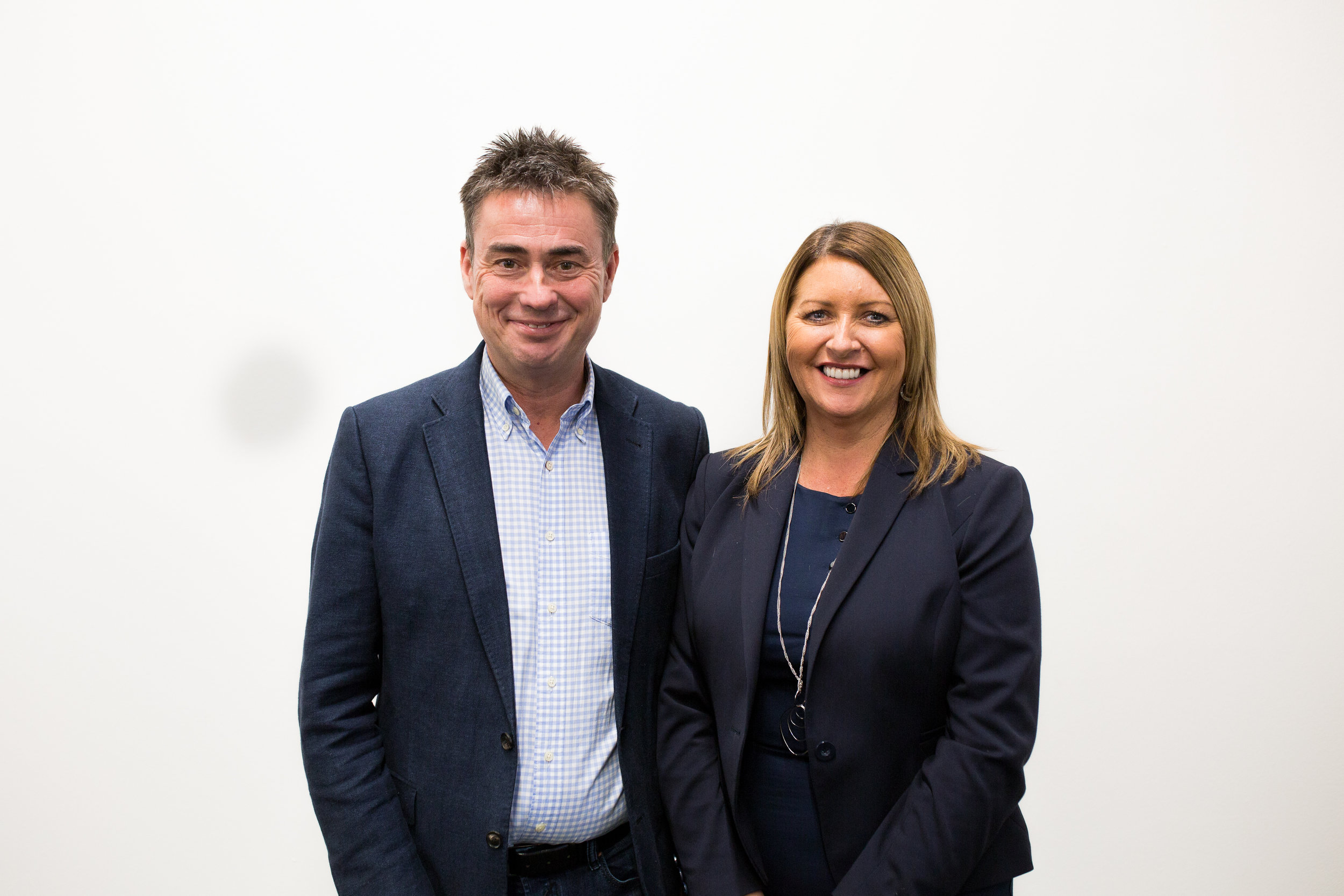 Pictured Above: Nick Cranston, Crest Systems and Julie Clark, Savage Lighting