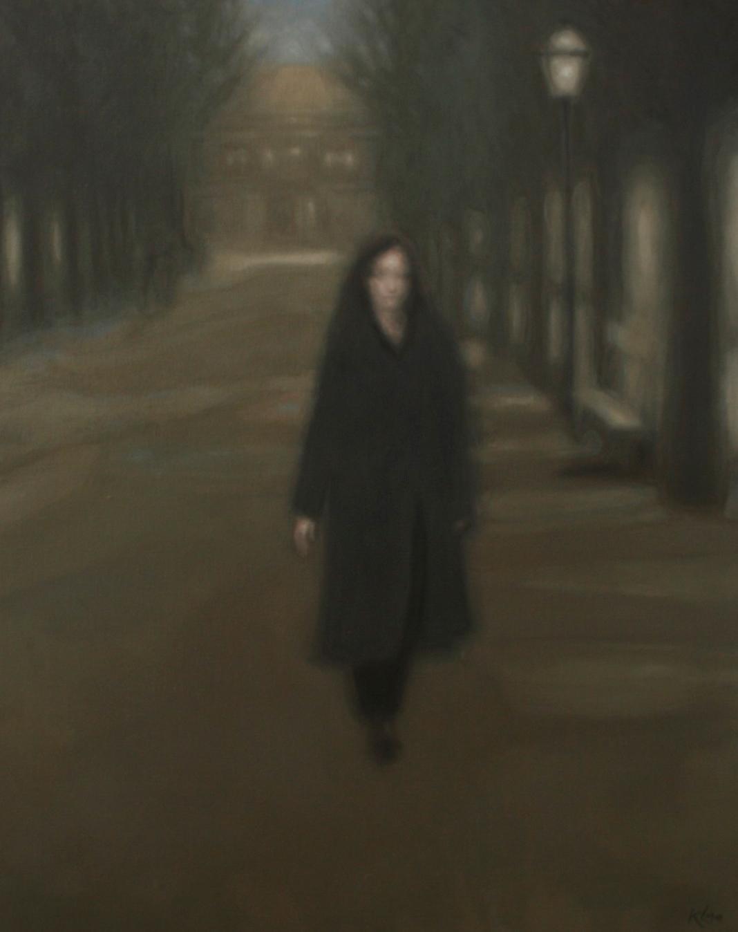 Lange Voorhout (I) , olieverf op doek, 80x100, 2011