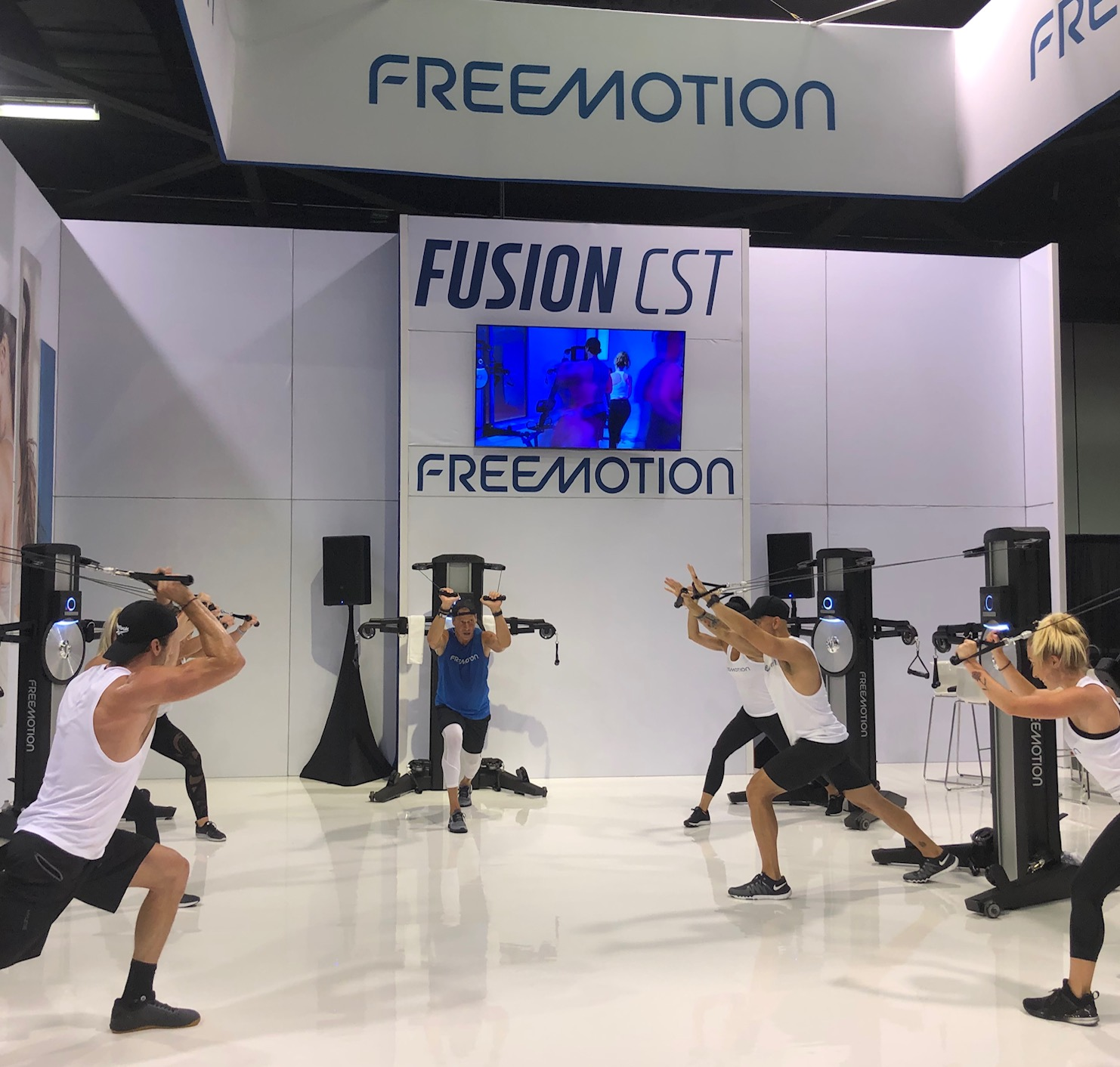 Expo Cool - FREEMOTION had on-going demos in their all white sleek space