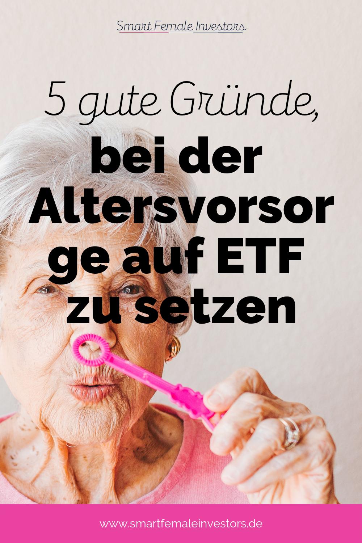 Altersvorsorge und Aktien passen für viele nicht zusammen. Tun sie aber doch: denn gerade ETFs eignen sich hervorragend, um Dir für den Ruhestand ein Vermögen aufzubauen.Warum Du auf ETF setzen solltest und wie Du erfolgreich investierst, lernst Du in meinem Artikel. Rentenlücke #finanzen #aktien #boerse #etf #geld #investieren
