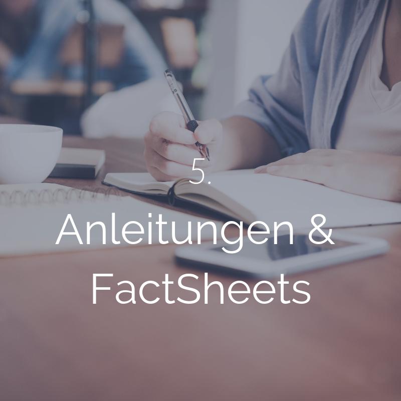 Ausführliche Anleitungen & FactSheets vermitteln Dir das nötige Finanzwissen und Infos zu allen Finanzprodukten -