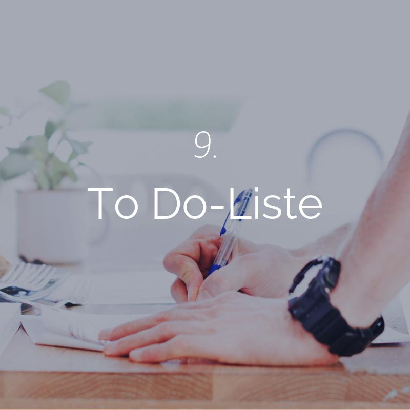 Du erhältst erneut eine individuelle To Do-Liste, damit Du alle Punkte auch wirklich umsetzt. -