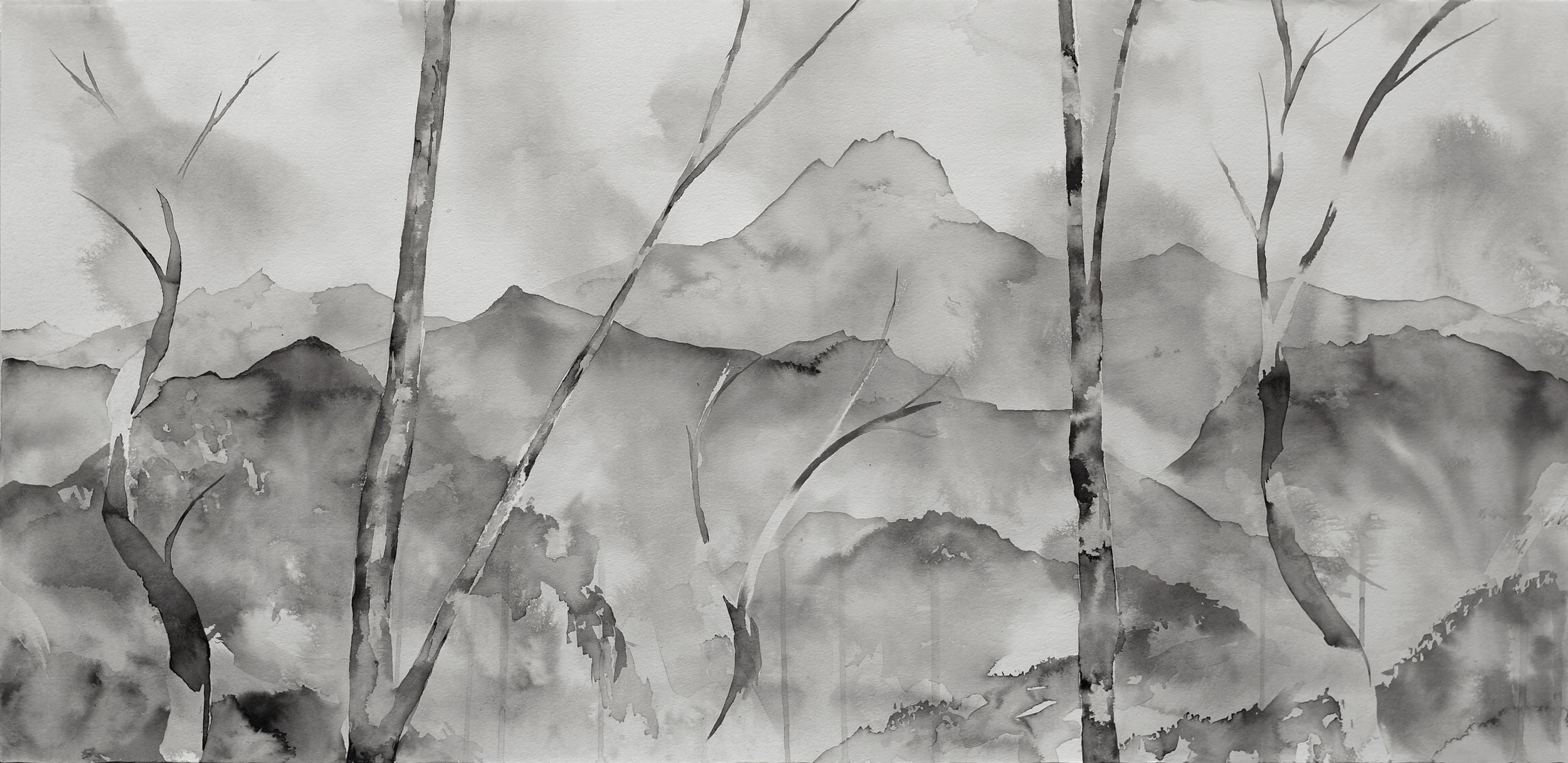 RHSK123 The Dream of Koumi I  ( ink on paper ) 49.5 x 101