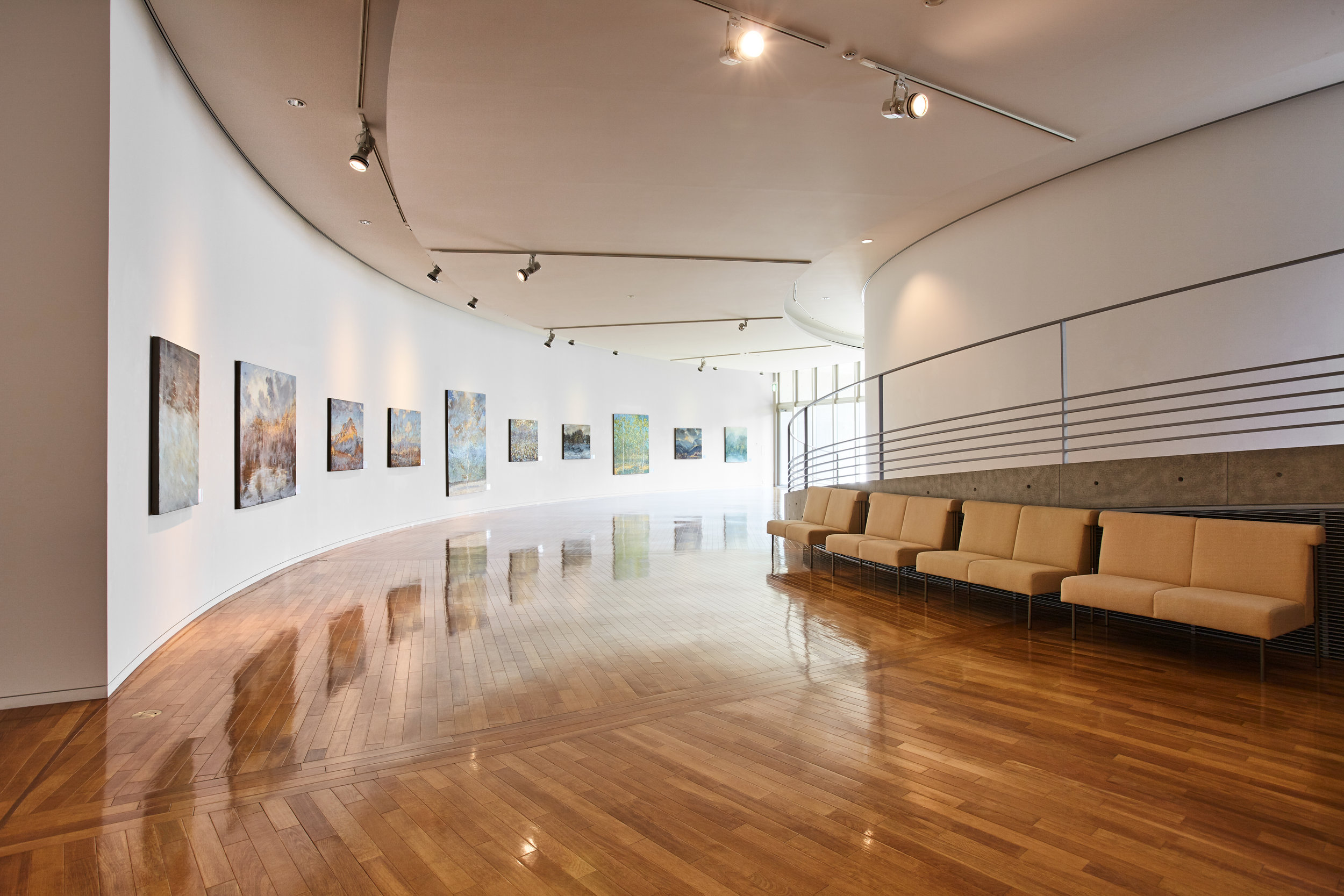 After entering the museum, the first gallery of oil paintings