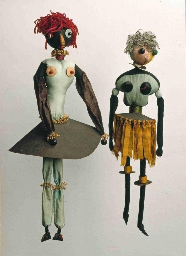 Two of Hannah Höch's dolls. Via  Artstack .
