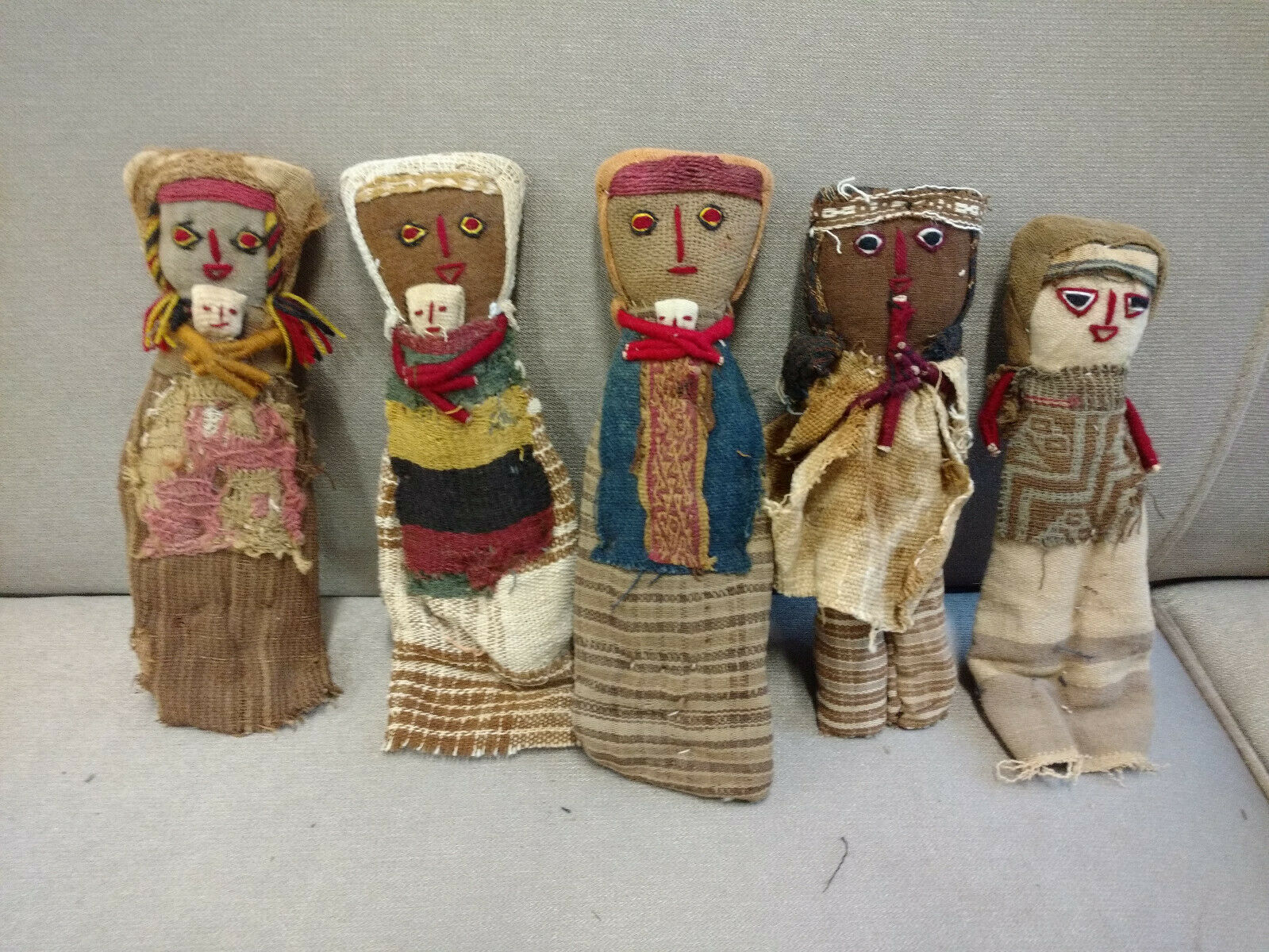 "Contemporary ""Chancay Burial Doll,"" with textile the seller claims is from 1200 CE. Via  eBay ."