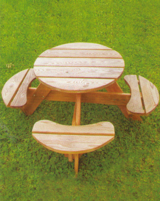 Childrens Table - This little table is perfect for kids to have a picnic in the garden. Pressure treated and comes flat packed.1200mm Overall diameter