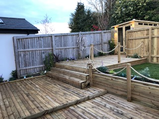 Cheshire Garden Property recently completed this beautiful design using our deck boards, sawn timber and poly hemp rope.
