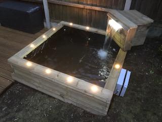 Garden water feature created by Adam Church- Cheshire Garden & Property