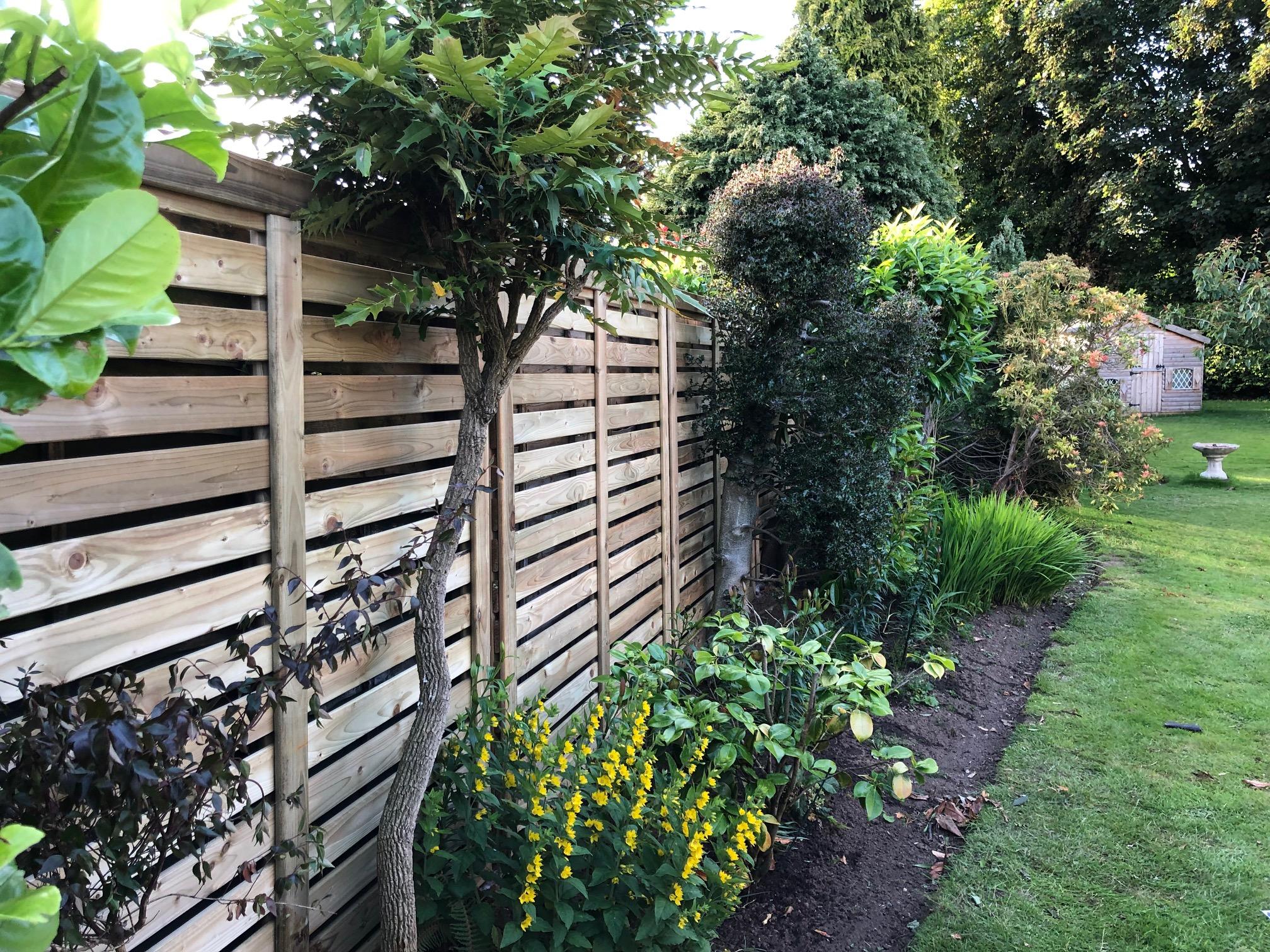 The Lurig panel looking rather splendid in a customers garden.
