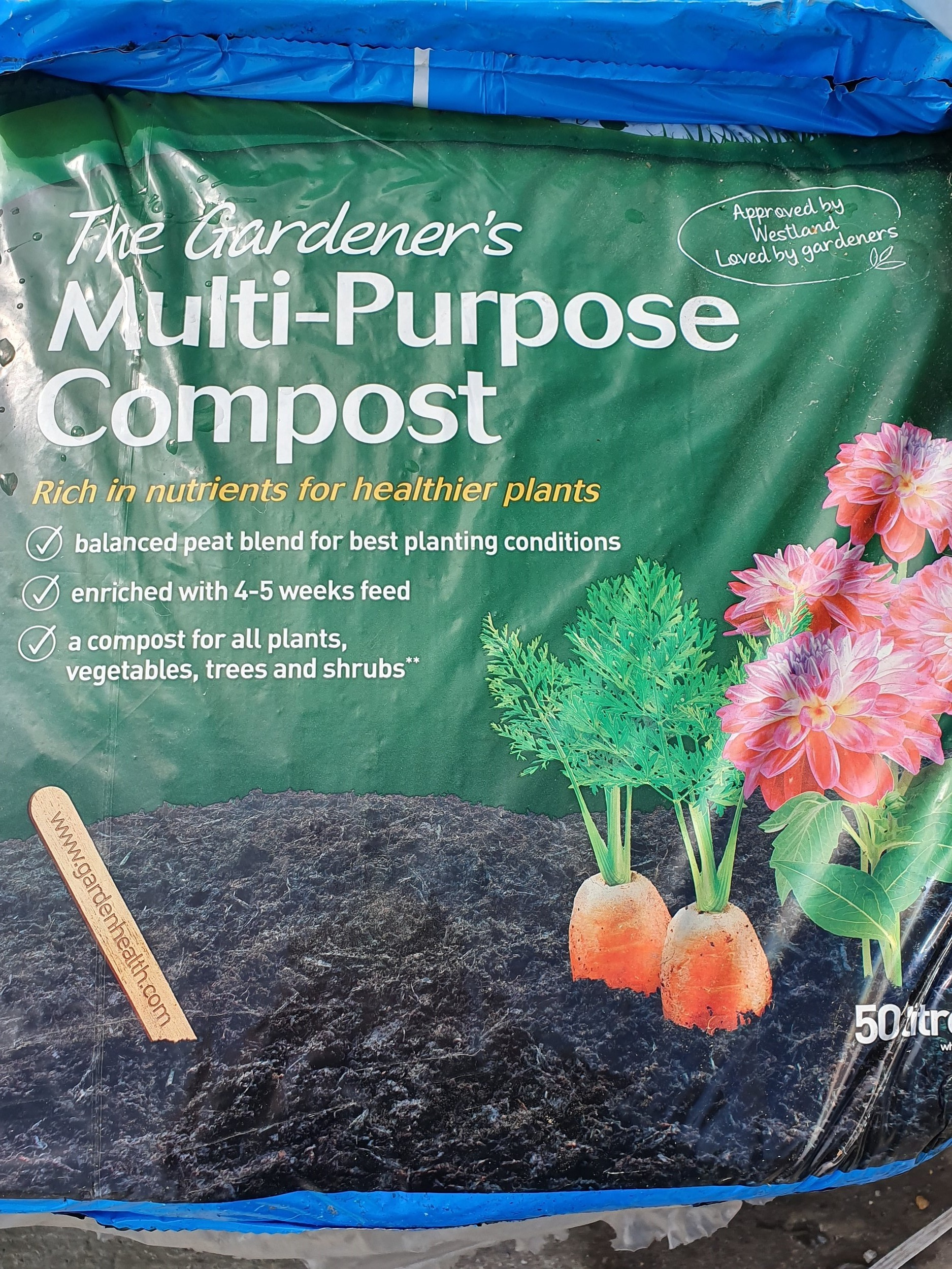 Multipurpose Compost in 50L bags. bulk bags of mushroom compost available to order.