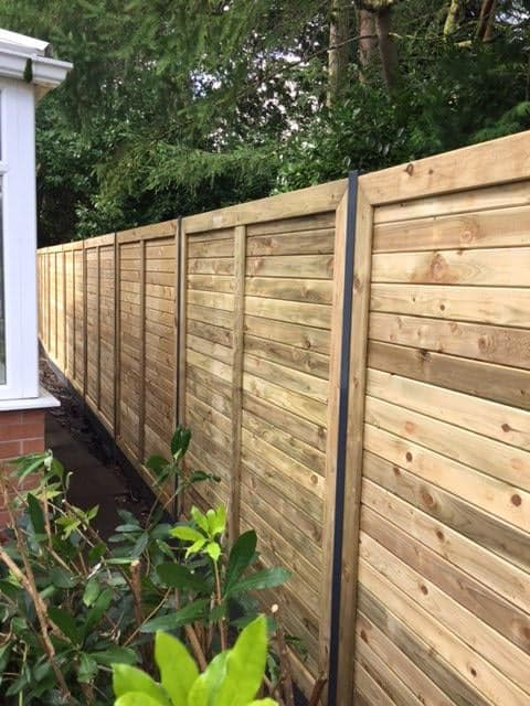 The Slemish Panel-Installed using the new Dura post by Cheshire Garden & Property.