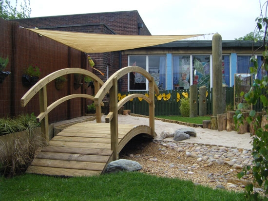 Horticon have created this shaded space and have used our Carrickerade Bridge