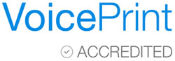 VoicePrint logo. Link to VoicePrint website.