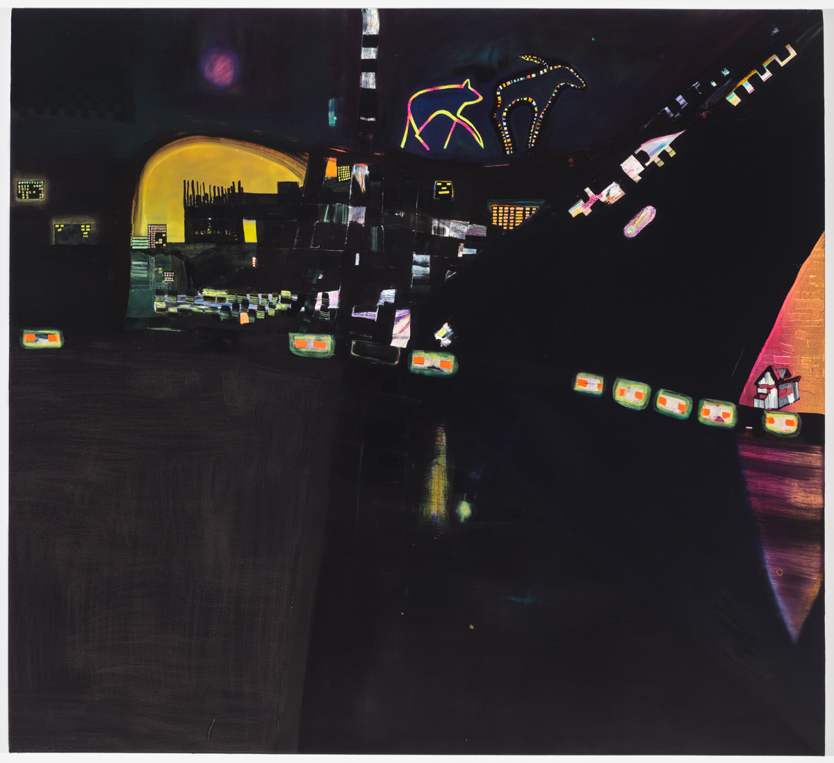 """Los Angeles, Alaska, Oil on canvas, 72"""" x 66"""""""