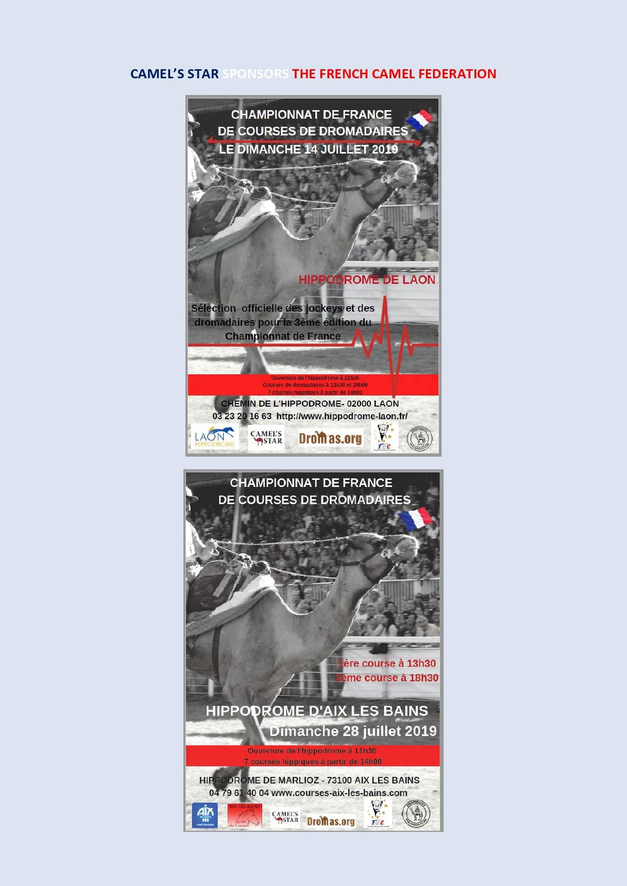 Sponsoring by CAMEL'S STAR -