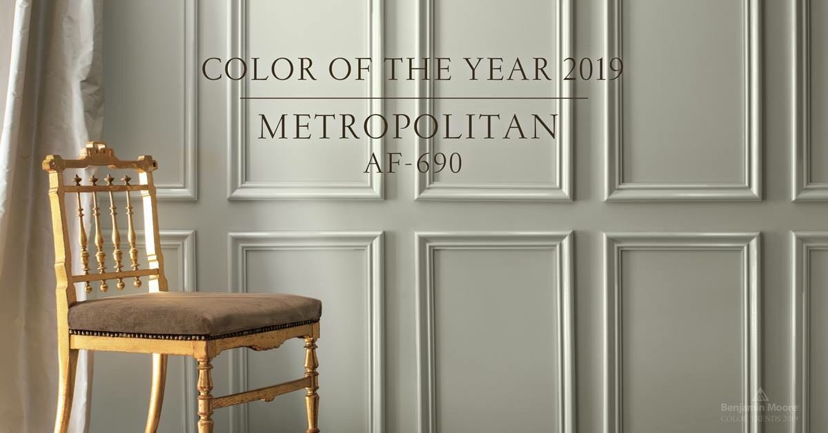 2019 Colour of the Year - Calm, composed and effortlessly sophisticated, Benjamin Moore's Colour of the Year 2019, Metropolitan AF-690, exudes glamour, beauty and balance.