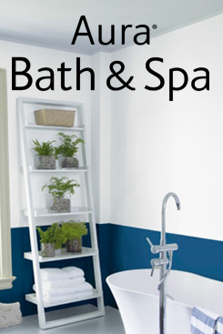 A super premium bath paint in a desirable matte finish designed to stand up to humid environments.