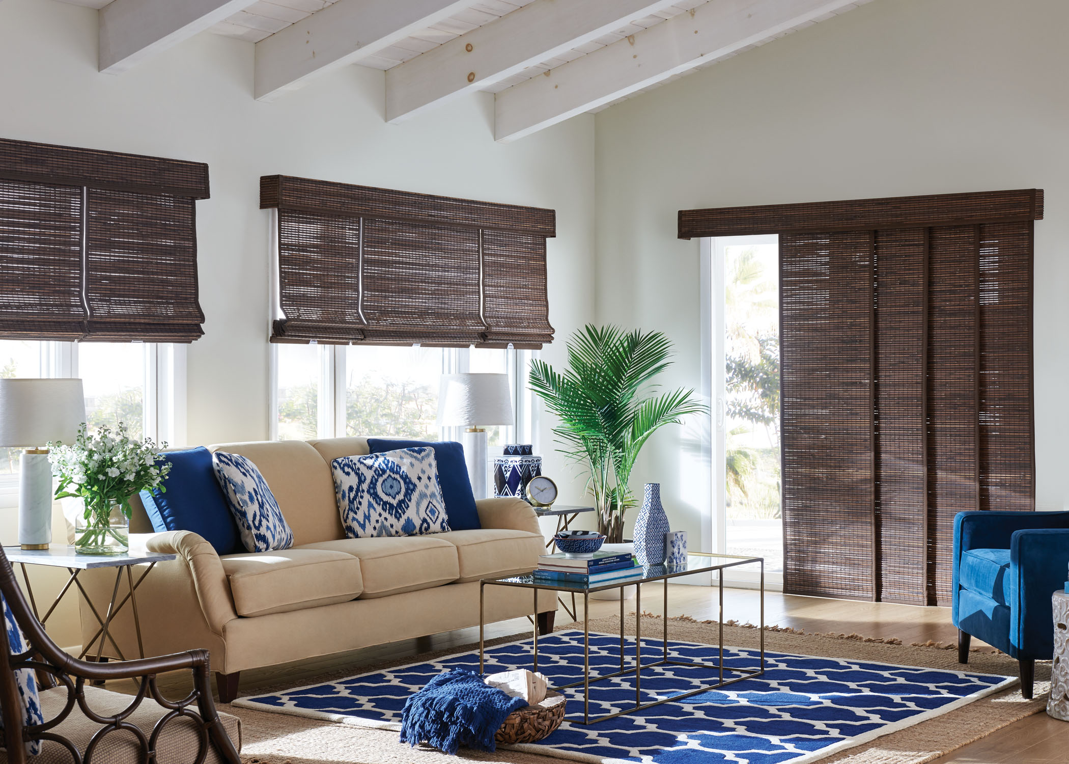 SHADES - Shades are the perfect blend of form and function—they offer a wide range of colours, textures, styles, and they provide you with precise light control, easy operation, and protection from excess heat.