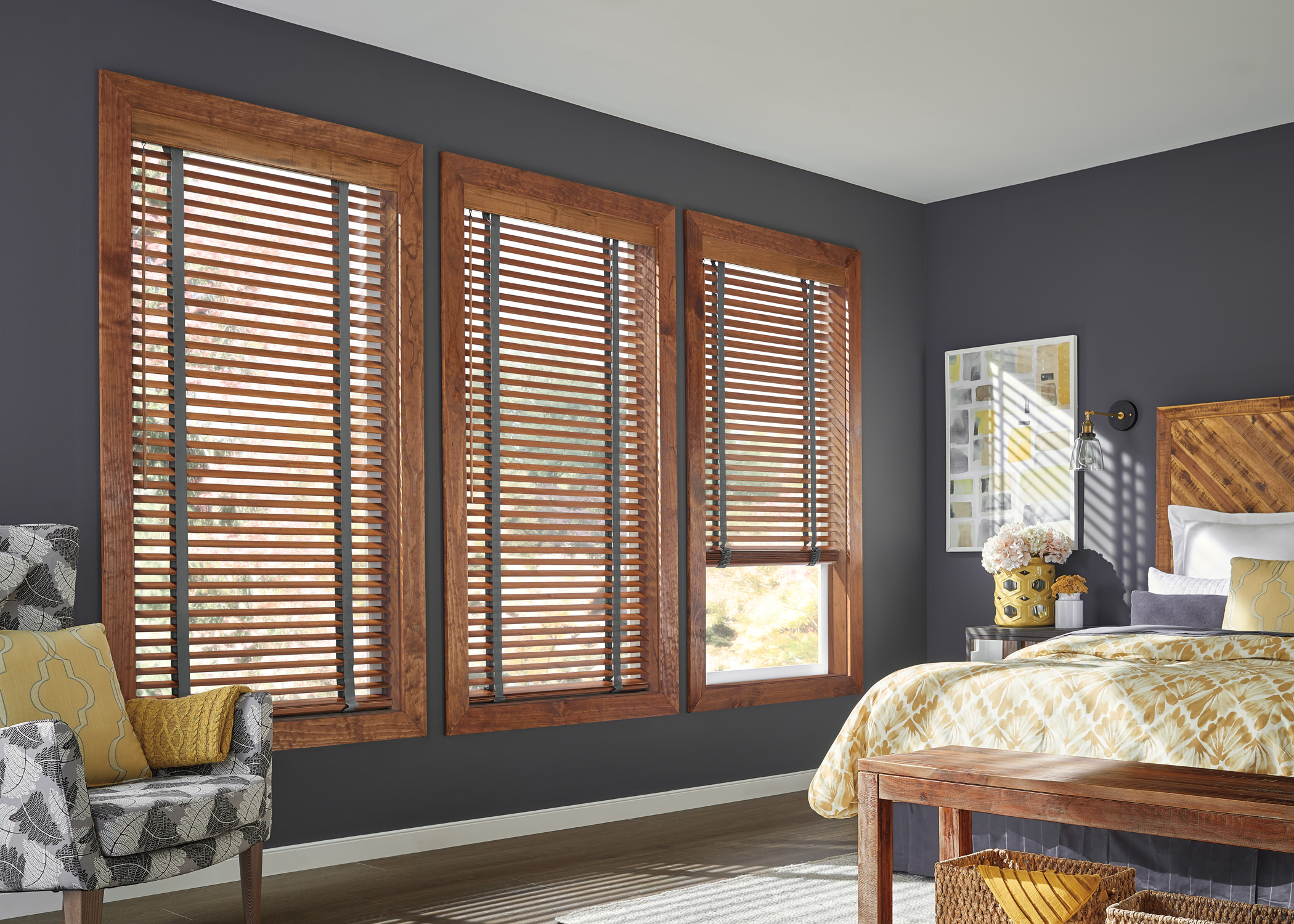 BLINDS - Shades are the perfect blend of form and function—they offer a wide range of colours, textures, styles, and they provide you with precise light control, easy operation, and protection from excess heat.