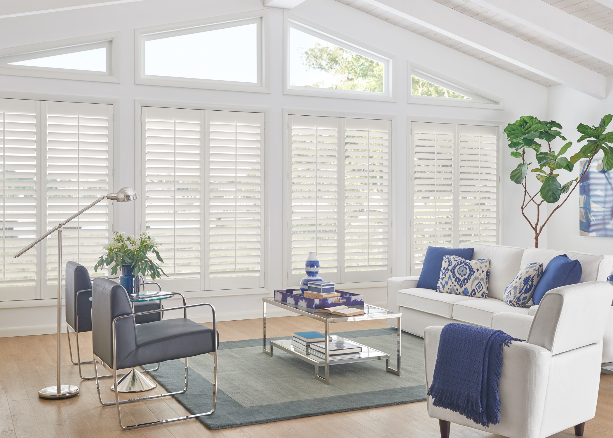 SHUTTERS - Shades are the perfect blend of form and function—they offer a wide range of colours, textures, styles, and they provide you with precise light control, easy operation, and protection from excess heat.