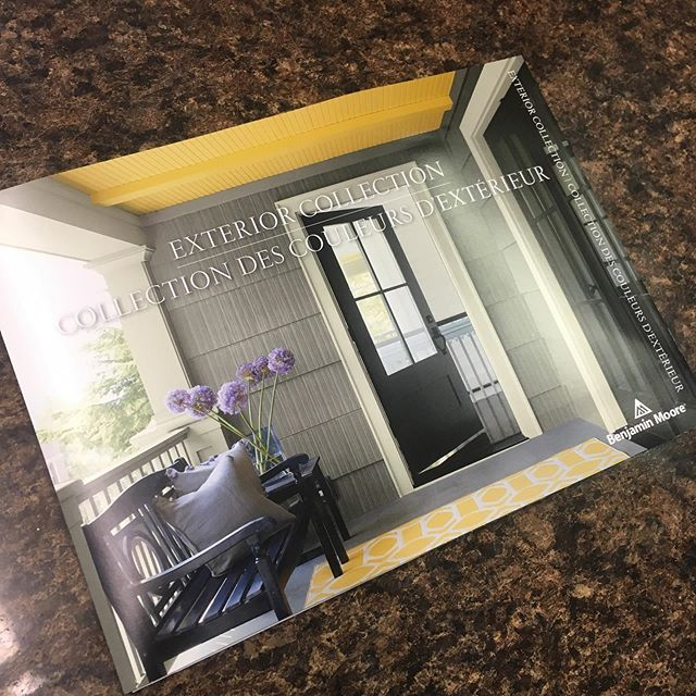 Get the newest edition of @benjaminmoore 's exterior colour card. There is a bit of time left, but don't wait until it gets too cold!
