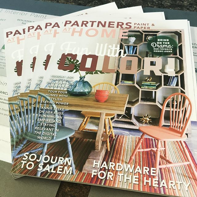Check out @partnerspaint 's new Fall 2019 issue of our At Home magazine!!! Pick up your free copy while they last!!!
