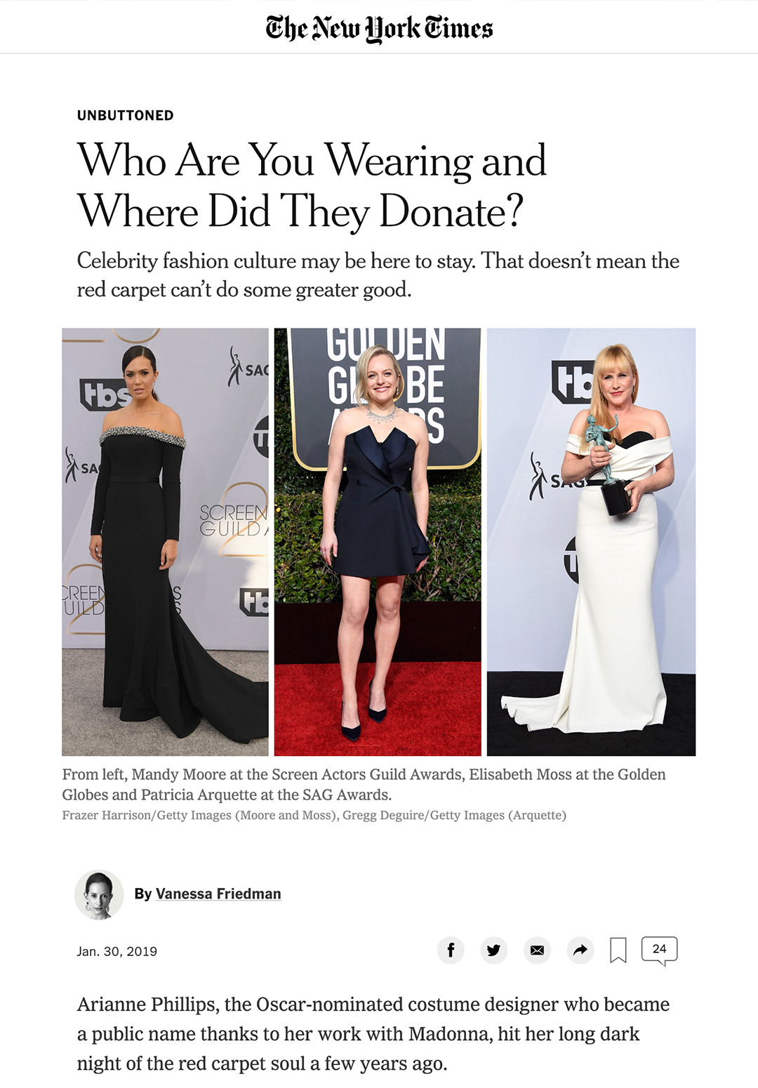 the new york times - WHO ARE YOU WEARING AND WHERE DID THEY DONATE?