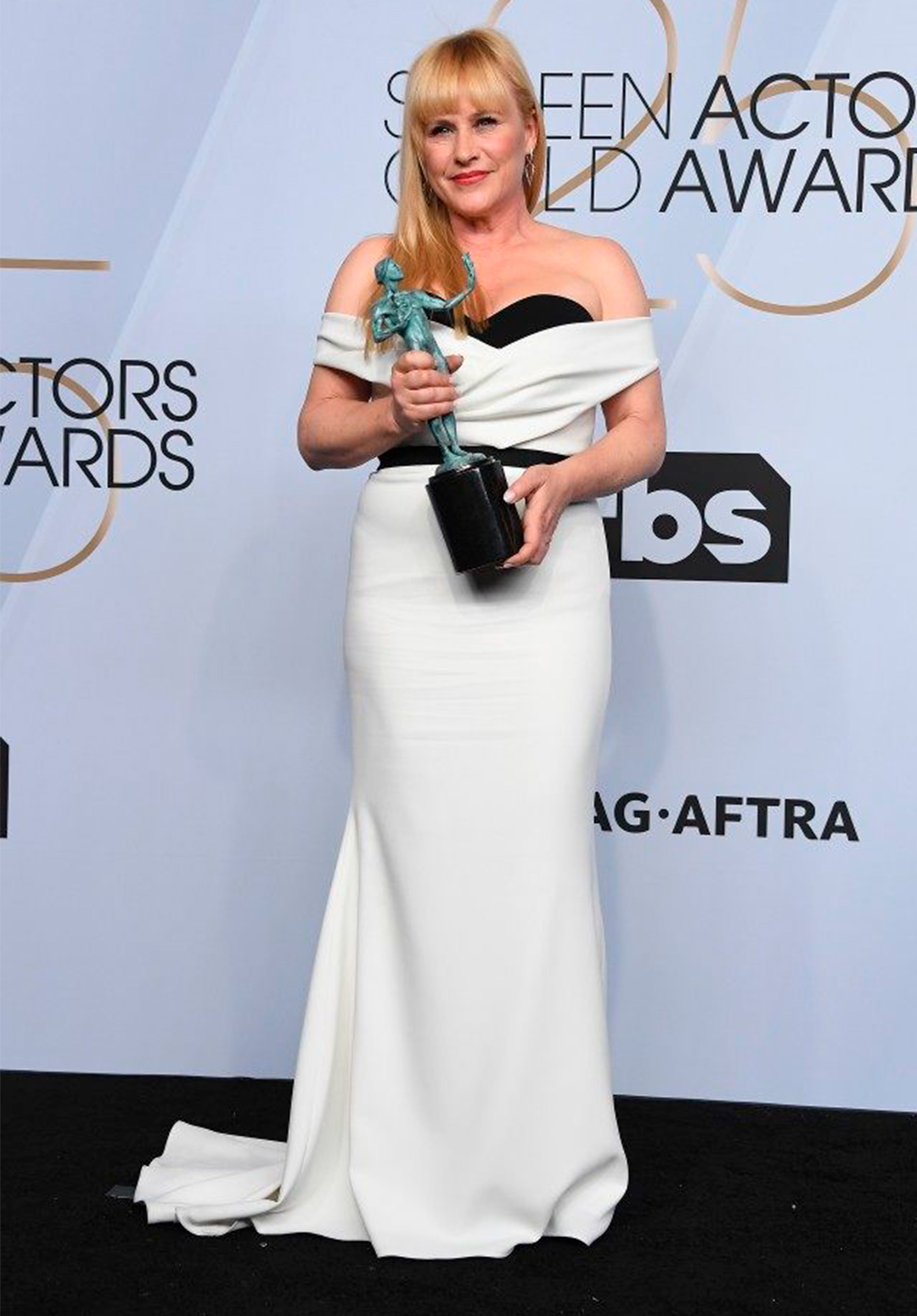 PATRICIA ARQUETTE SAG AWARDS 2019 - WINNING for GIVE LOVE