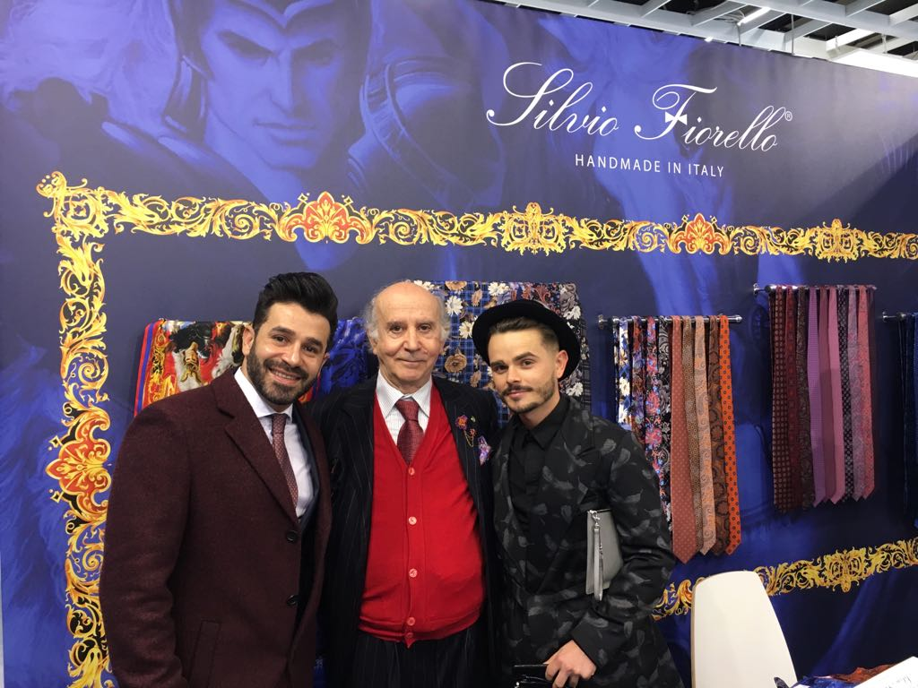 Team and guests at Pitti Uomo exhibition